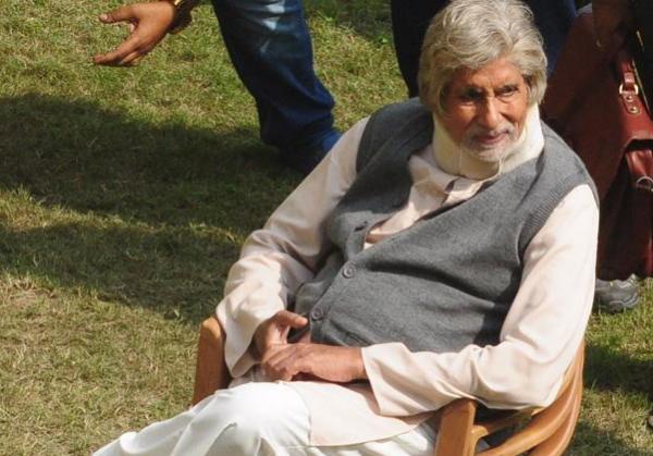 Amitabh Bachchan on the sets of Piku