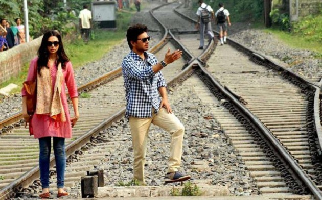 Deepika Padukone, Irrfan Khan shoot for Piku at Kolkata