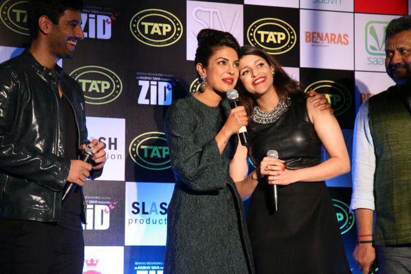 Karanvir Sharma, Priyanka Chopra, Mannara and Anubhav Sinha at Zid music success bash