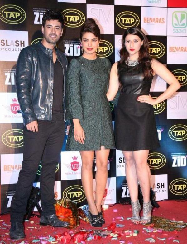 Karanvir Sharma, Priyanka Chopra and Mannara at Zid music launch