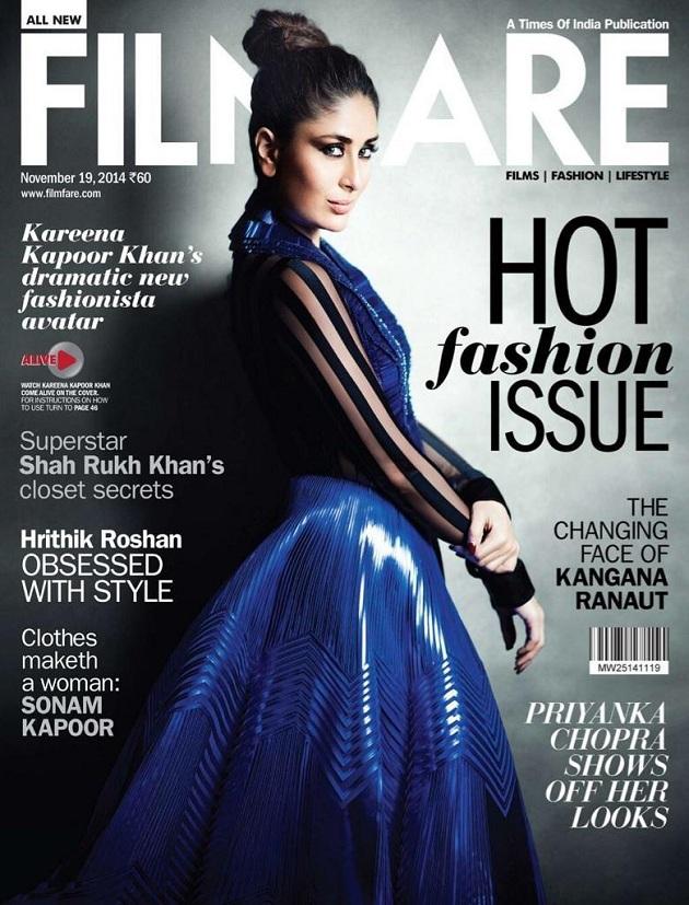 Kareena Kapoor on Filmfare Magazine Cover