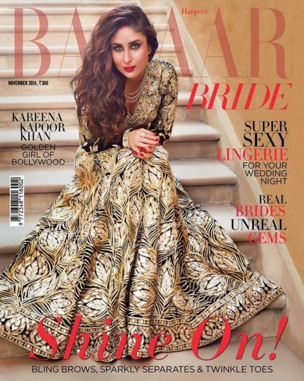 Kareena Kapoor on Harper's Bazaar Bride Magazine Cover