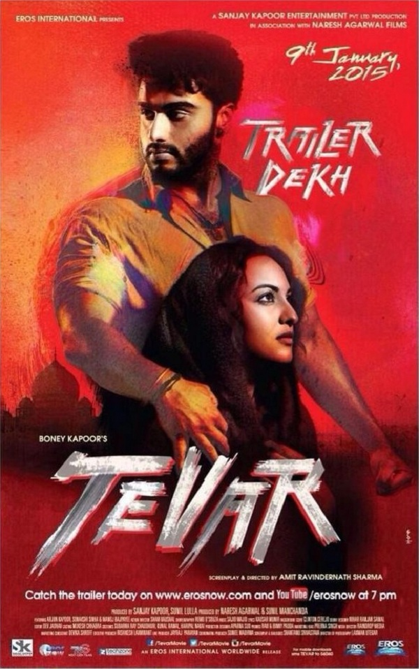 Tevar new poster - Arjun Kapoor, Sonakshi Sinha