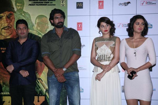 Bhushan Kumar, Rana Daggubati, Tapsee Pannu and Madhurima Tuli at Baby trailer launch
