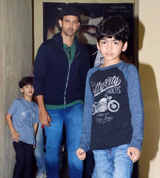 Hrithik Roshan And Zayed Khan With Their Kids At Pvr Juhu Photos