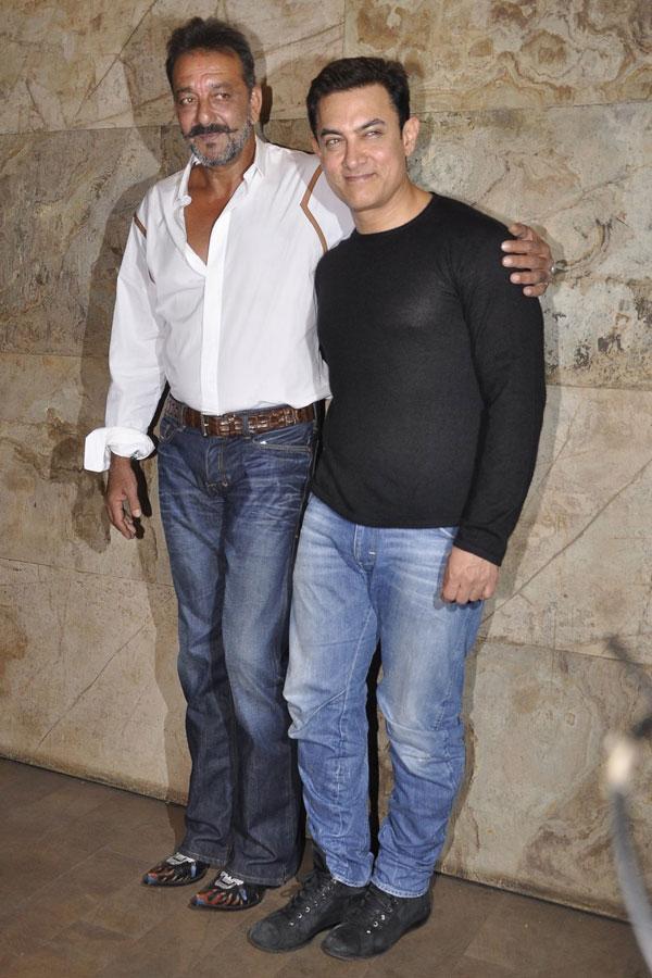 Sanjay Dutt with Aamir Khan