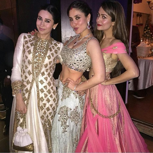 Karishma Kapoor, Kareena Kapoor and Amrita Arora at Soha and Kunal's wedding reception