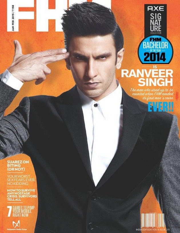 Ranveer Singh Becomes The First Male Star On Fhm India Cover