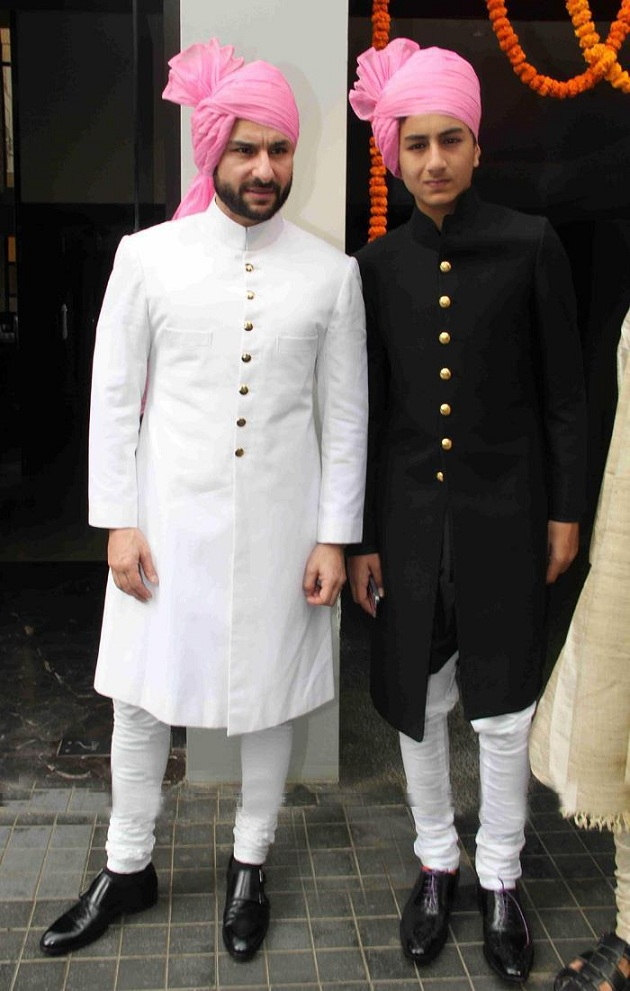 Saif Ali Khan with his son Ibrahim Ali Khan