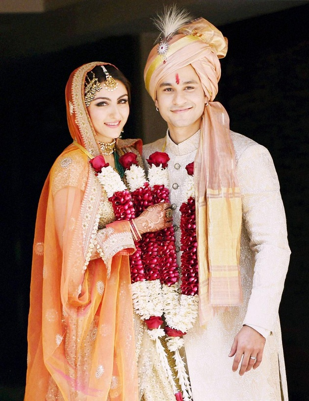 Soha Ali Khan, Kunal Khemu Wedding photo