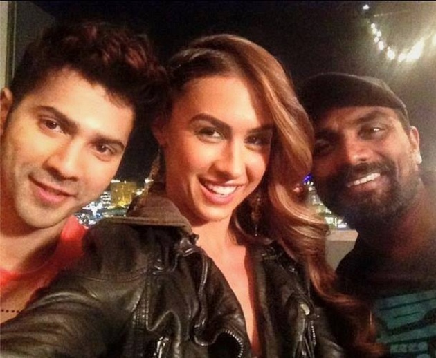 Varun Dhawan, Lauren Gottlieb and Remo D'Souza ABCD 2 on location