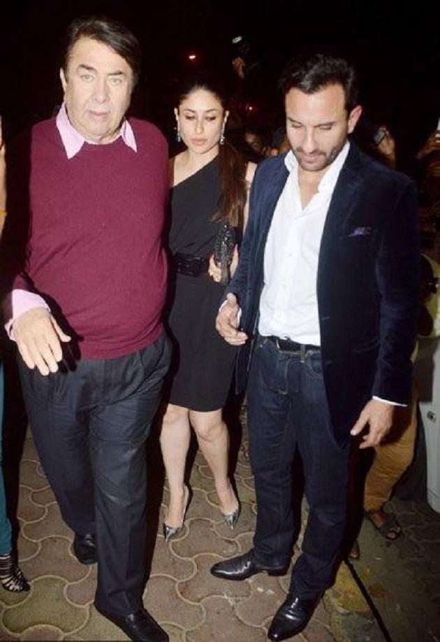 Kareena Kapoor Khan, Saif Ali Khan at Randhir Kapoor's birthday bash