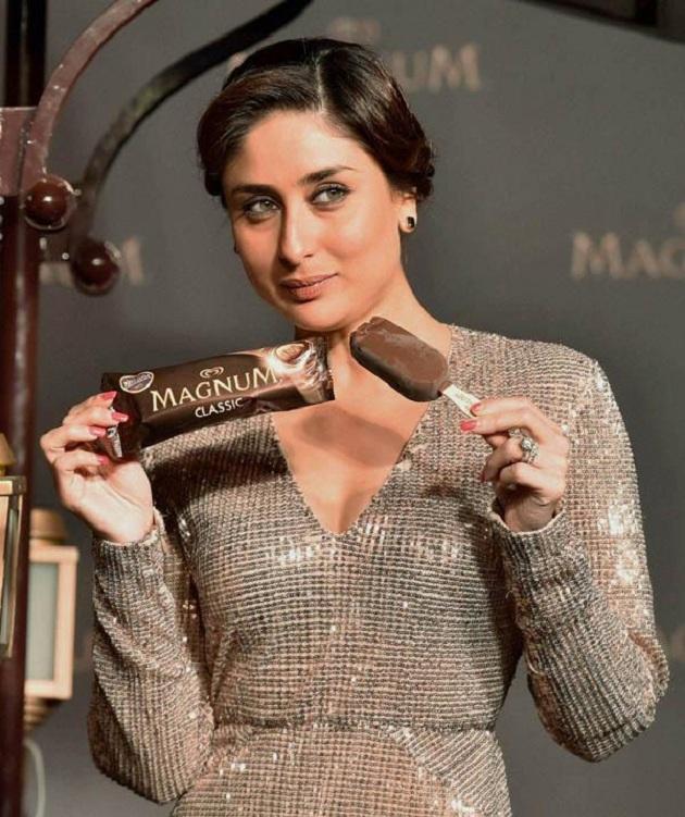 Kareena Kapoor launches the Magnum ice-cream brand in Delhi