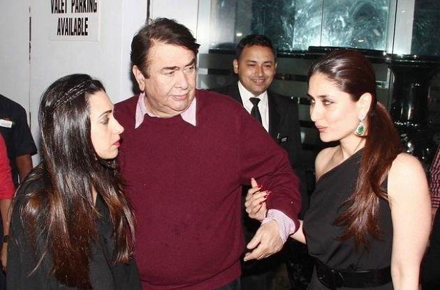 Karisma Kapoor, Randhir Kapoor and Kareena Kapoor