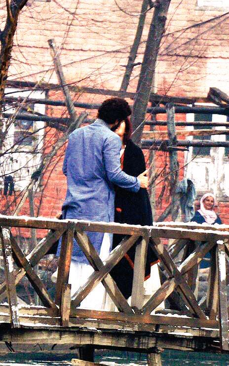 Katrina and Aditya shoot a kissing scene for Fitoor