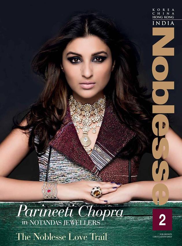 Parineeti Chopra on Noblesse India Magazine Cover