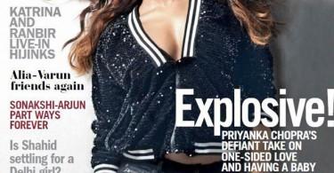 Priyanka Chopra on Filmfare Magazine Cover