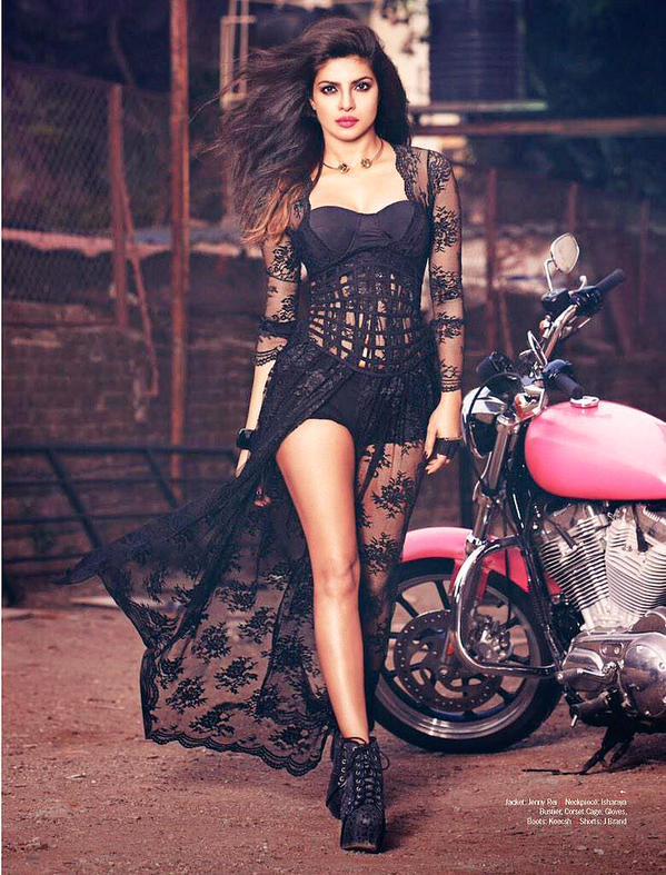 Priyanka Chopra's Hot Look - Filmfare Magazine