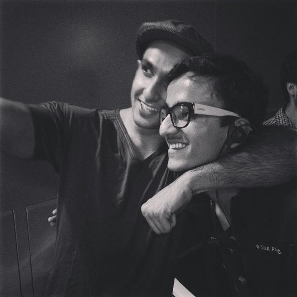 Ranveer Singh with fan on the sets of Bajirao Mastani