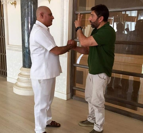 Sunny Deol, Manoj Joshi on the sets of Ghayal Returns