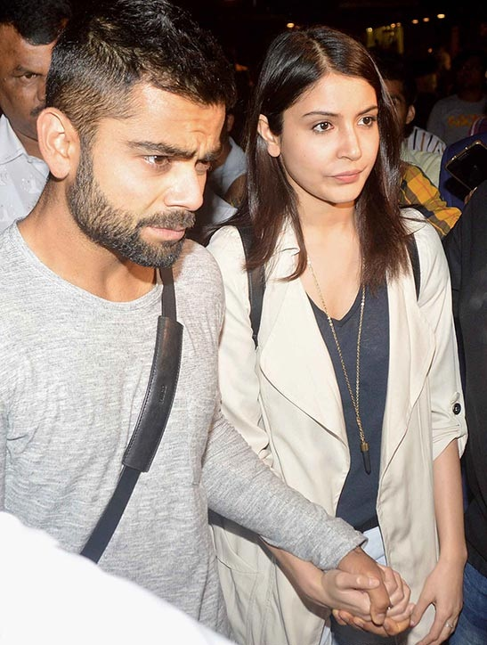 Virat Kohli with Anushka Sharma
