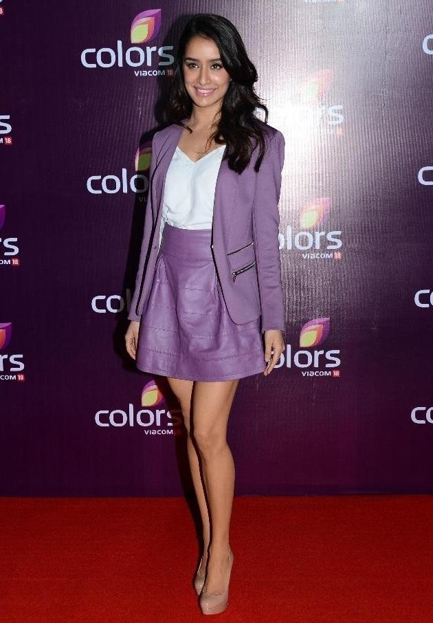Shraddha Kapoor at Colors Leadership Awards 2015