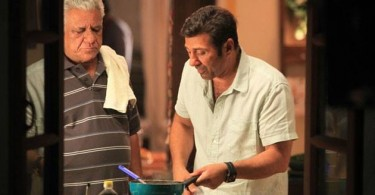 Sunny Deol, Om Puri on the sets of Ghayal Once Again
