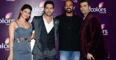 Tanisha Mukherjee, Varun Dhawan, Rohit Shetty and Karan Johar