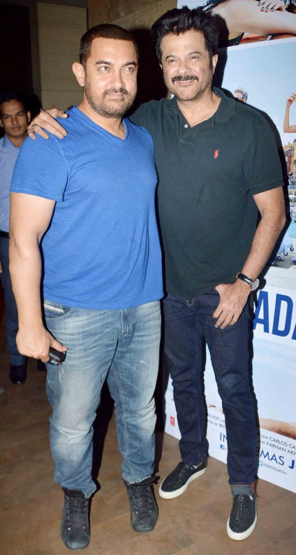 Aamir Khan, Anil Kapoor at Dil Dhadakne Do special screening
