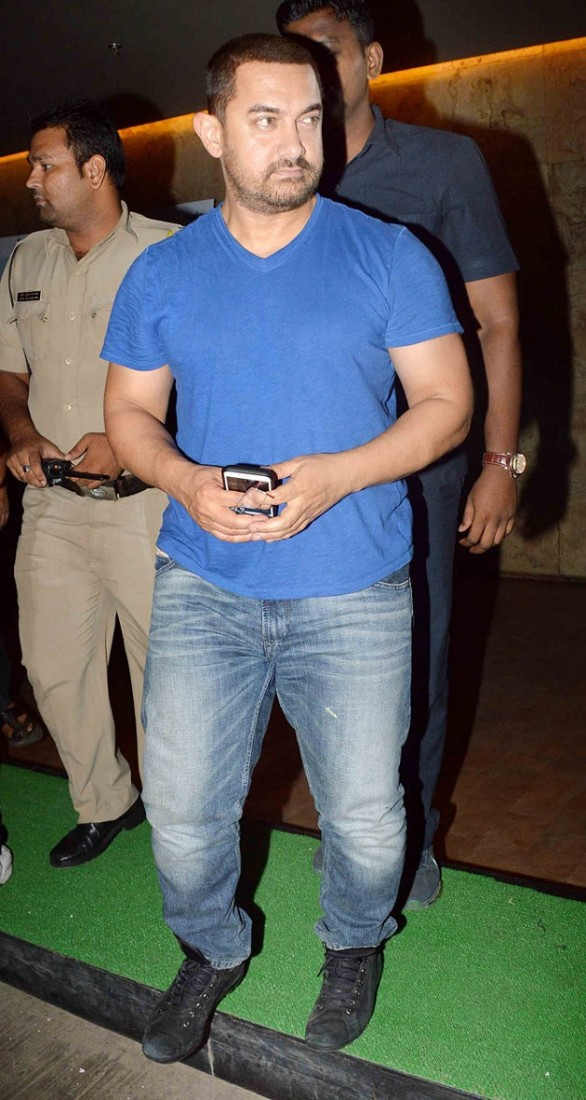 Aamir Khan at Dil Dhadakne Do screening