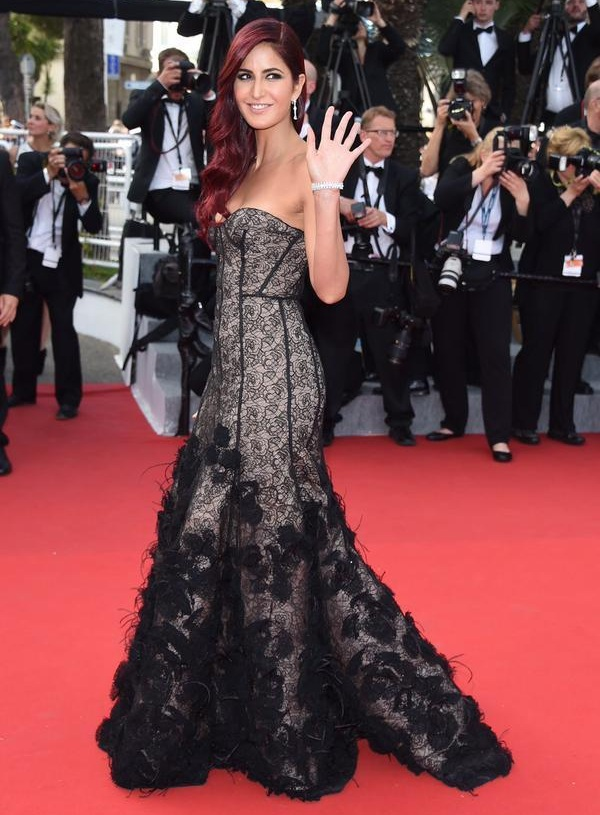 Katrina Kaif makes her grand debut at the Cannes Red Carpet 2015