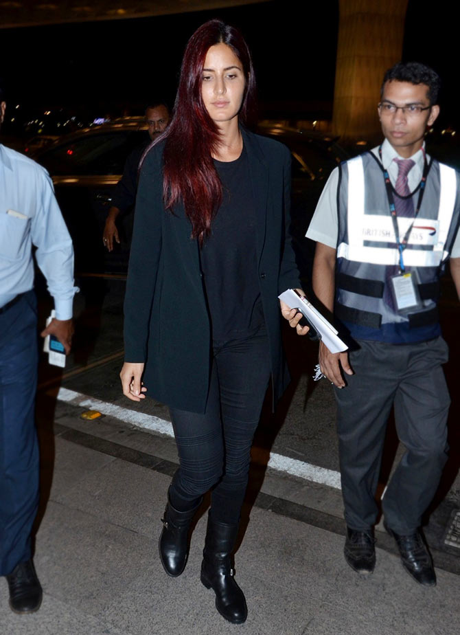 Katrina Kaif spotted at the Chhatrapati Shivaji International Airport