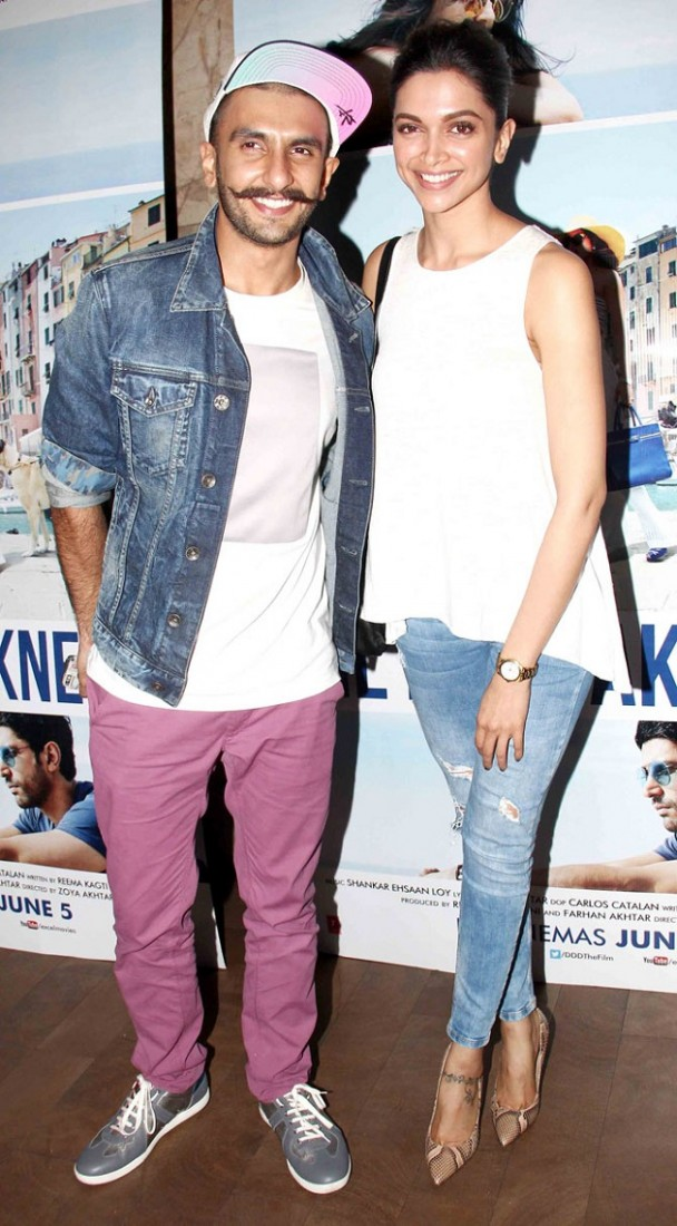 Ranveer Singh, Deepika Padukone at Dil Dhadakne Do special screening