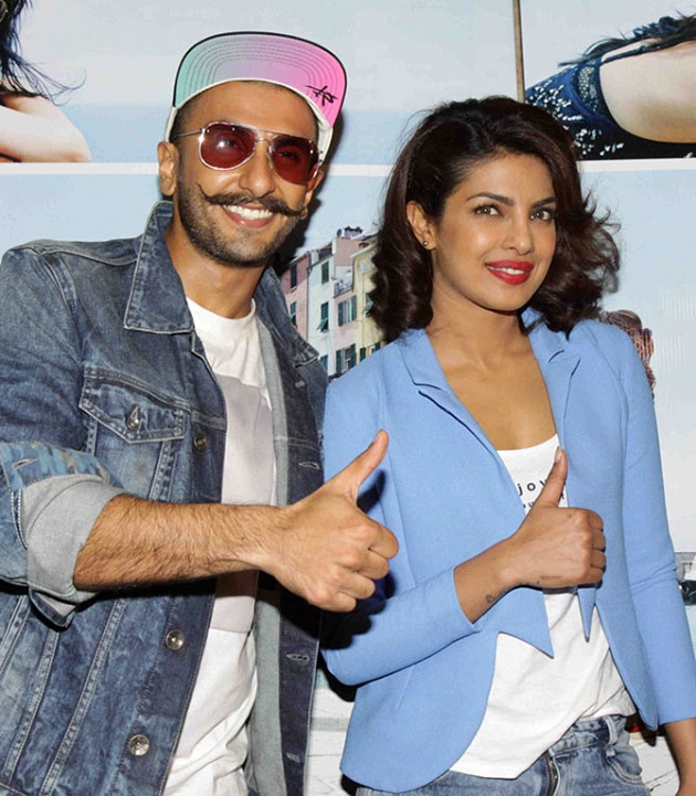 Ranveer Singh with Priyanka Chopra