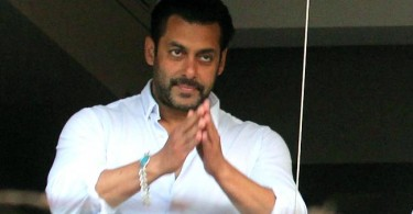 Salman Khan greets fans outside his house after returning from court