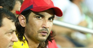 Sushant Singh Rajput during the CSK vs RR match