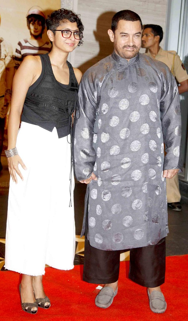 Aamir Khan with wife Kiran Rao at PK success bash