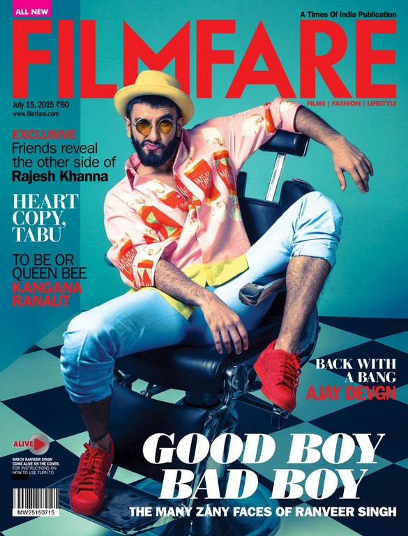 Ranveer Singh on Filmfare Magazine Cover
