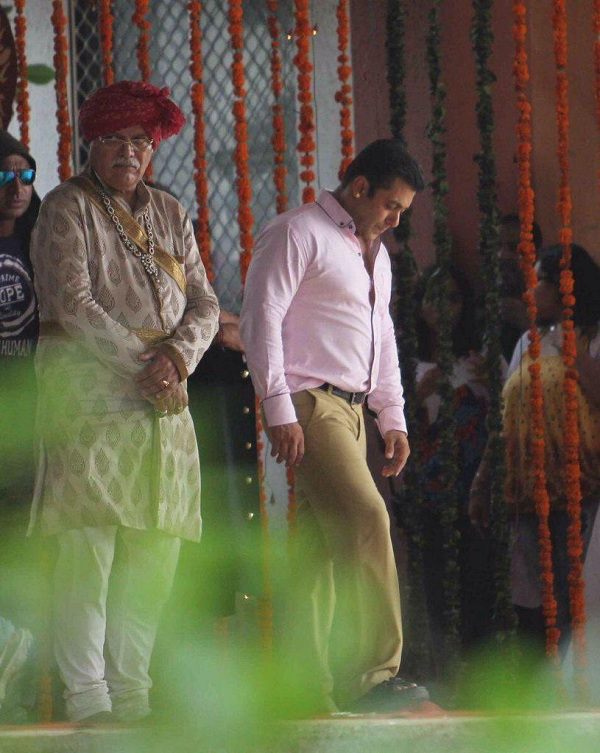 Salman Khan Prem Ratan Dhan Payo on location
