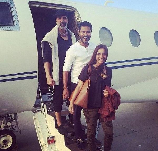 Akshay Kumar, Prabhu Dheva and Ashvini Yardi in Cape Town for Singh Is Bling shoot