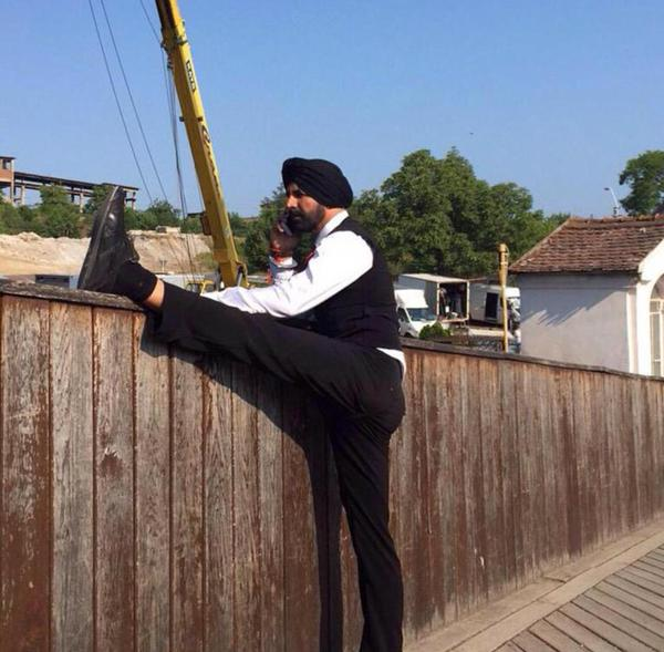 Akshay Kumar on the sets of Singh Is Bling in Romania