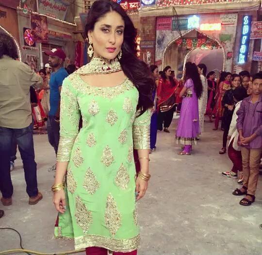 Kareena Kapoor shooting song Aaj Ki Party Meri Taraf Se for Bajrangi Bhaijaan