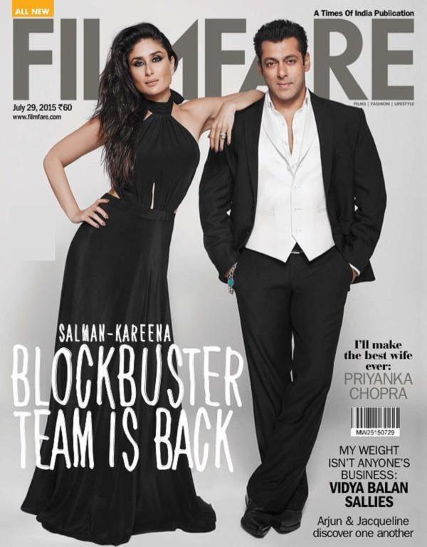Kareena Kapoor Khan, Salman Khan on Filmfare Magazine Cover