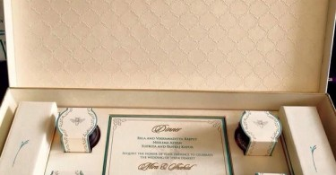 Shahid Kapoor and Mira Rajput's wedding invitation