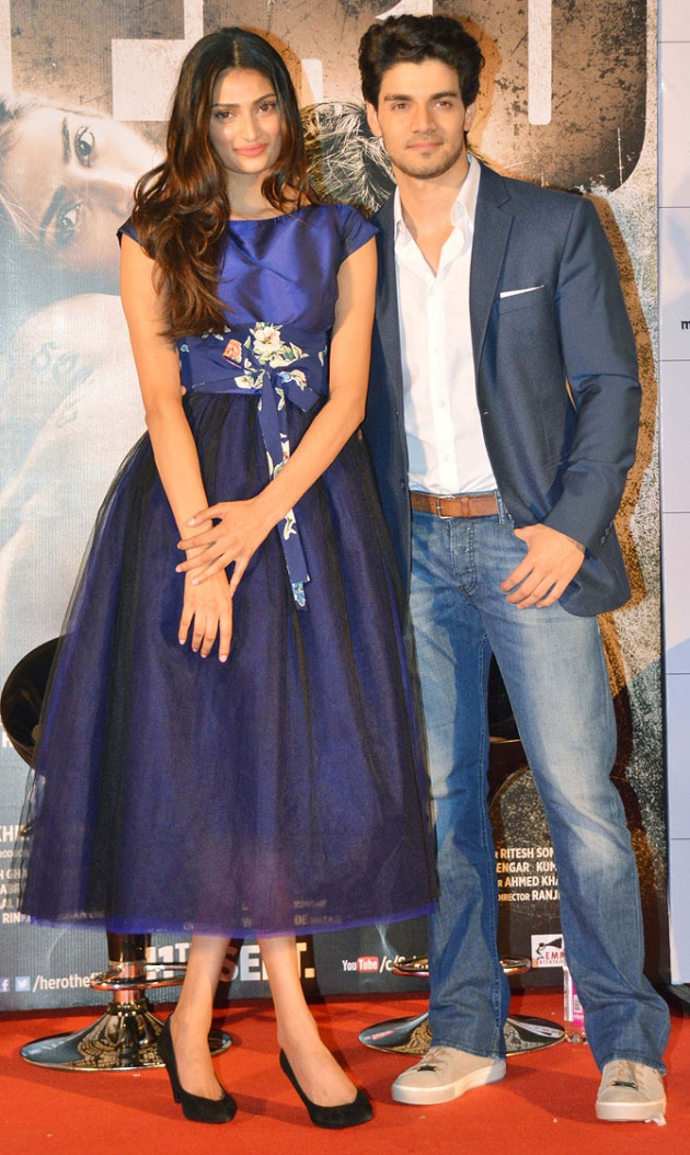 Athiya Shetty, Sooraj Pancholi at Hero trailer launch
