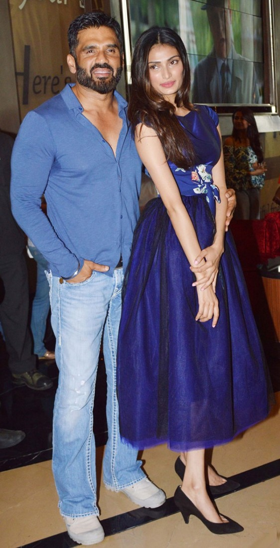 Sunil Shetty with daughter Athiya Shetty