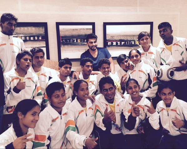 Arjun Kapoor spends time with Slum Soccer team