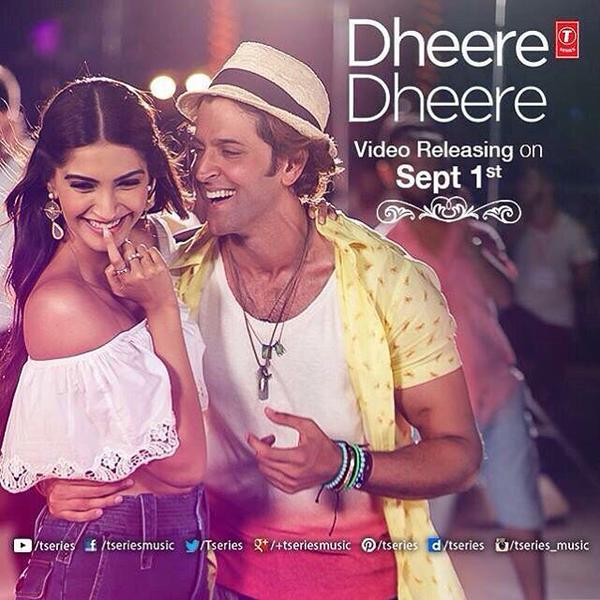 Hrithik Roshan and Sonam Kapoor - Dheere Dheere Song Still