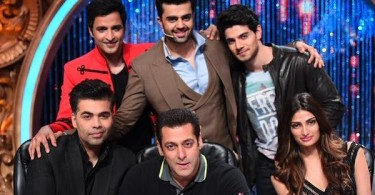 Karan Johar, Salman Khan, Athiya Shetty, Sooraj Pancholi and Manish Paul