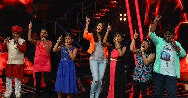 Katrina Kaif with Indian Idol Junior contestants